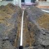 Installation de conduite pour filage électrique sous-terrain