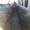 Excavation pour l'installation de terrasses