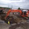 Excavation pour raccordement de bornes fontaines