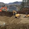 Remblais de sable compact pour construction résidentielle